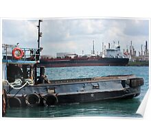 Tug and Freighter Poster