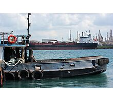 Tug and Freighter Photographic Print