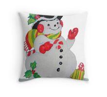 Let it SNOW man Throw Pillow