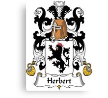 Herbert Coat of Arms (French) Canvas Print