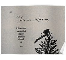 You are victorious-scripture Poster