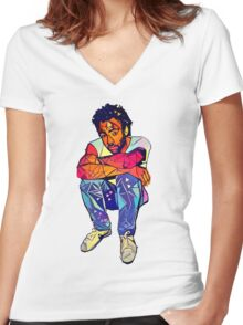 Candid Gambino Women's Fitted V-Neck T-Shirt