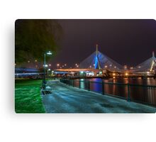 Zakim Bridge Park - Boston, MA USA Canvas Print