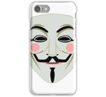 Guy Fawkes Mask 1 iPhone Case/Skin