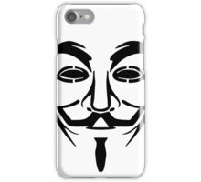 Guy Fawkes Mask 2 iPhone Case/Skin