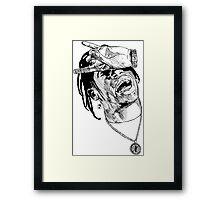 La Flame sketch Framed Print