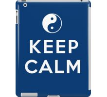 ying yan keep calm zen iPad Case/Skin