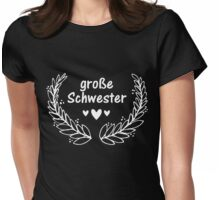 Große Schwester Womens Fitted T-Shirt