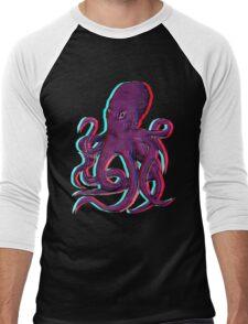 3D Octopus Men's Baseball ¾ T-Shirt