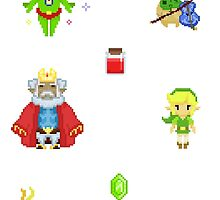 The Legend of Zelda - Windwaker Males set 1 by SteampunkStein