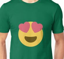 Smiling face with heart-shaped eyes Unisex T-Shirt