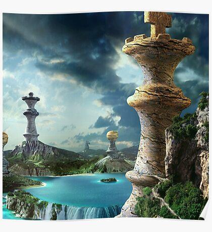Fantasy Chess Art (Square) Poster