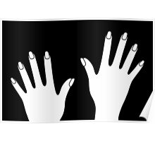 Simple Black & White Hands Poster