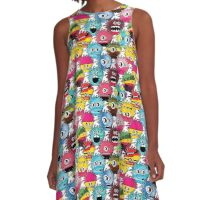 Funny monsters A-Line Dress