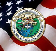 Naval Special Warfare Command - NSWC - Emblem  by Captain7