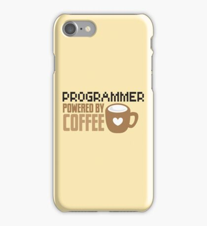 Programmer powered by coffee iPhone Case/Skin