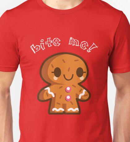 Gingebread Man Bite Me! Unisex T-Shirt