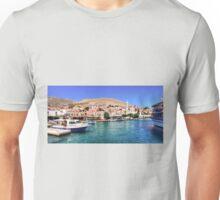 Halki Harbour Front Unisex T-Shirt