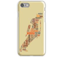 Michael Jackson They Don't Care About Us Typography iPhone Case/Skin