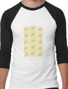Abstract seamless heart pattern.Gift wrap, print, cloth, cute background for a card. Men's Baseball ¾ T-Shirt