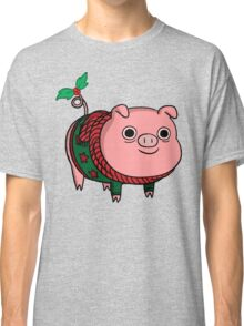 Mr. Pig With Christmas Jumper Classic T-Shirt