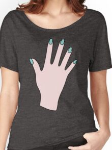 Simple Pink Pastel Manicured Hands Women's Relaxed Fit T-Shirt