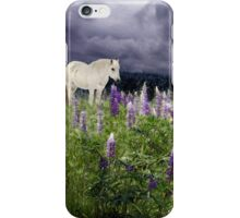 A Childs Dream Among Lupine iPhone Case/Skin