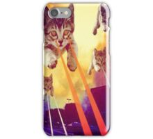 Cats With Laser Eyes iPhone Case/Skin