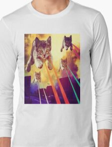 Cats With Laser Eyes Long Sleeve T-Shirt