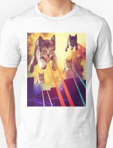 Cats With Laser Eyes Unisex T-Shirt
