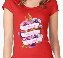 Nasty Women Squad Women's Fitted Scoop T-Shirt