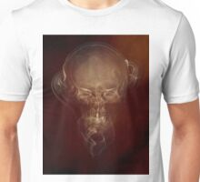 Skull and smokes - red version Unisex T-Shirt