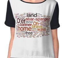 Star Spangled Banner Typography Art Chiffon Top