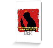 The Key King BBC Sherlock Moriaty Greeting Card