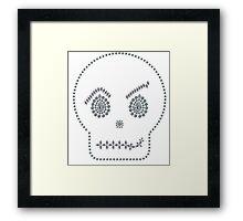 Skull Smirk Framed Print