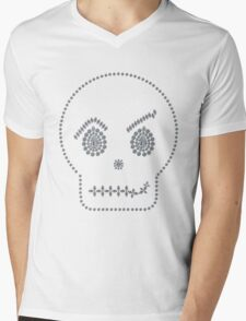 Skull Smirk Mens V-Neck T-Shirt
