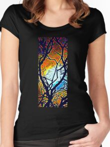 Fantasy Forest  Women's Fitted Scoop T-Shirt