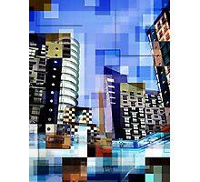 Retro City Tower Tiles Photographic Print