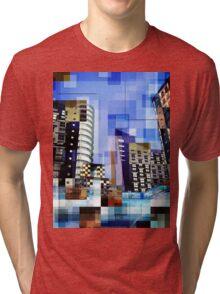 Retro City Tower Tiles Tri-blend T-Shirt