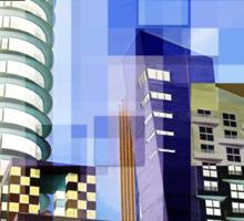 Retro City Tower Tiles Sticker