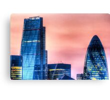 The Gherkin and the Cheese Grater Canvas Print
