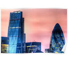 The Gherkin and the Cheese Grater Poster