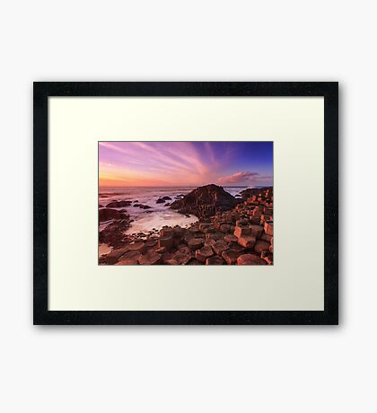 Giant's Causeway , Co Antrim , Northern Ireland Framed Print