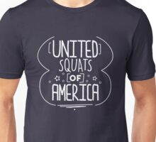 USA United Squats Of America Funny Fitness Graphic Workout Exercise TShirt For Women Unisex T-Shirt