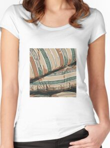 Lines pattern,abstract background Women's Fitted Scoop T-Shirt