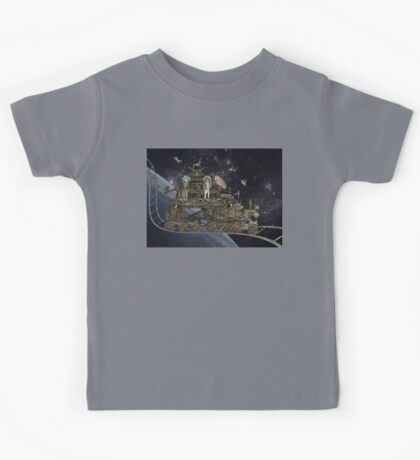 Space Cat Train Kids Tee