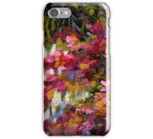Palm Trees and Bougainvillaea by Chris Brandley iPhone Case/Skin