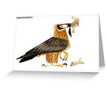 Lammergeier Caricature Greeting Card