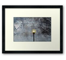 Happy Holidays Greeting Card and Print Framed Print