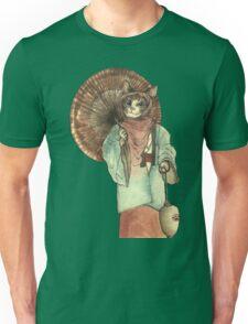 Umbrella Halfing Cat with Her Lantern Unisex T-Shirt